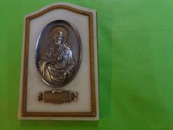 """Ancien CHRIST Sur Plaque De Marbre Matiere A Identifie Signé A.SALÈS """" - Religion & Esotericism"""