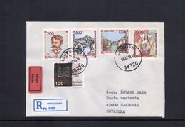 Bosnien Und Herzegowina Kroatische Post/Croat. Post Office Interesting Letter With First Officially Issued Set - Bosnia And Herzegovina