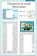 FRANCE Philatelic Document 2002 World ParaAthletics Championships Disability Disabled Handicap Athlétisme Handisport - Handisport