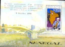 SENEGAL  C - 153 MINT NEVER HINGED SOUVENIR SHEET OF AVIATION  ; CLEMENT ADER ( 1991 - Flugzeuge