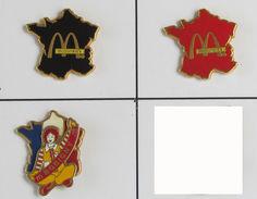 3 Pin's Mc DONALD'S Signé MADE IN FRANCE - McDonald's