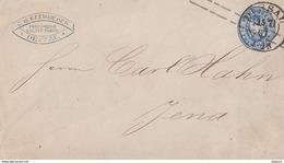 Preussen GS-Umschlag 2 Silb.Gr. K2 Dessau 15.7.67 Gel. Nach Jena - Preussen