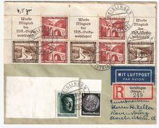DR,  1937, Gute ZD, Portogerecht, Mi. Ca. 100.- , #8369 - Zusammendrucke