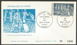 Niger 1977 388 FDC Festival Arts Nègro - Africains Lagos - Niger (1960-...)