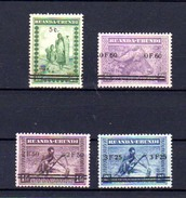 1941  « Meulemans,  Timbres Surchargés », 114 / 117**, Cote 130 € - Ruanda-Urundi