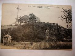 Carte Postale Le Pallet (44) Le Calvaire Et Les Ruines Du Chateau D'Abélard (Petit Format Oblitérée 1931 ) - France