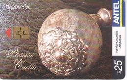 Nº 396 TARJETA DE URUGUAY DE UNA BOLEADORA - Uruguay