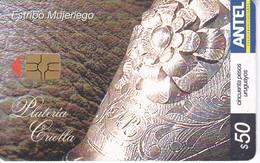 Nº 402 TARJETA DE URUGUAY DE UN ESTRIBO MUJERIEGO - Uruguay