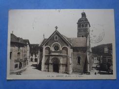 64-ARUDY L'église , Circulée En 1941 , 2 Scans - Arudy