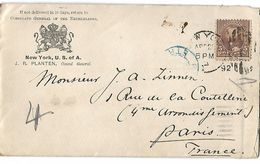 Lettre De New - York  28 Avril 1894 Vers Paris - NY - New York