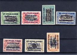 1919 , Taxe, 1916 Surchargés, TX 1 / 8** (TX 1 Et 4 Char), Cote 319 €, - Taxe: Neufs