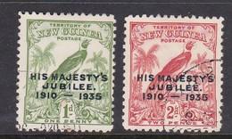 New Guinea SG 206-207 1935 Silver Jubilee Used Set - Papua New Guinea