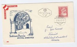 1962 AUSTRIA FDC Stamps SPITTAL CASTLE  Cover - FDC