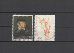 Monaco / France 1983 Paintings Raphael - Raffael 2 Stamps MNH - Arte