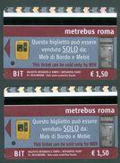 METREBUS ROMA  - 2 Validated Tickets Bus/metro - 2012 - Subway