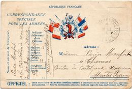 Correspondance Spéciale Pour Les Armées  - Drapeaux - Marianne - 14° Artillerie SP 136   (97864) - Marcofilie (Brieven)