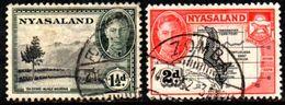 04541 Nyassaland 79/80 George VI Monte Mlanji E Mapa U - Nyassaland (1907-1953)