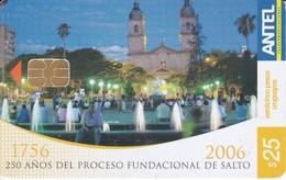 Nº 432 TARJETA DE URUGUAY DE ANTEL DE 250 AÑOS DE FUNDACION DE SALTO - Uruguay