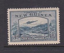 New Guinea SG 216 1939 Bulolo Goldfields Three Pennies Blue Mint Never Hinged - Papua New Guinea