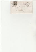 LETTRE COMMERCIALE FABRIQUE DE TALONS - AFFRANCHIE N° 3 OBLITERATION GRILLE - CAD ST CHAMOND AVRIL 1850 - COTE : 100 &eu - 1849-1850 Ceres