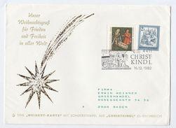 1982 AUSTRIA CRISTKINDL EVENT COVER Stamps Christmas Religion - Christmas