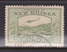 New Guinea SG 221 1939 Bulolo Goldfields One Shilling Pale Blue Green Used - Papua New Guinea
