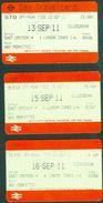 LONDON  TRAVELCARDS  -  DAY PASS   - 2011 - Railway