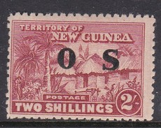 New Guinea SG O11 1925-31 Native Village Officials Two Shillings Brown-lake Mint Hinged - Papua New Guinea