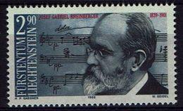 Liechtenstein 1989 - MiNr 963   Josef Rheinberger, Komponist; Notenhandschrift - Musique