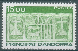 Andorra (French Adm.), Primitive écu Of The Valleys, 15f., 1986, MNH VF - Unused Stamps