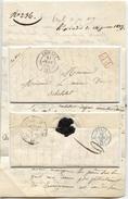 TD CREULLY PP Rouge Lettre De 1838 Cachet Poste Paris Bleu 1838 - 1801-1848: Précurseurs XIX