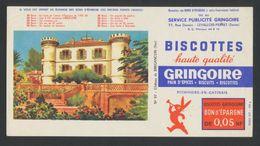 Buvard - BISCOTTES GRINGOIRE - Bon D'epargne - Buvards, Protège-cahiers Illustrés
