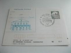 STORIA POSTALE Cartolina Postale Cecina Xx Convegno Filatico Numismatico 1987 - Manifestazioni