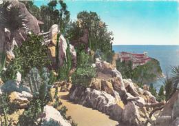 MONACO -  Jardin Exotique - Carte Avec Timbres - Jardin Exotique