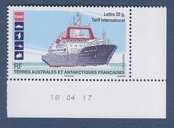 Le Marion Dufresne Terres Australes Et Antarctiques Françaises  TVP (1.24€) Lettre Internationale 20g Daté 18.04.17 - Neufs