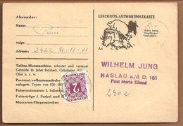 Österreich Antw.Postkarte.2 Shilling Nachporto No.254.1969. SCHWEIN-PORC-PIG-VARKEN - Segnatasse