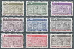 Andorra (French Adm.), Primitive écu Of The Valleys, 1983, MNH VF  Complete Set Of 9 - Unused Stamps