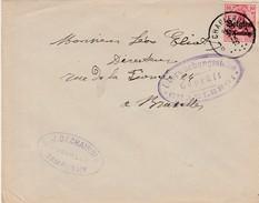 Belgique Occupation Allemande  Lettre Censurée Charleroi 1915 - WW I