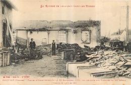 SAINT DIE  PARTIE D'USINE INCENDIEE  LA GUERRE DE 14-15 DANS LES VOSGES - Saint Die
