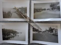 SENEGAL OUAKAM  DAKAR  LOT 4 PHOTOS DIVERSES   BASE AERIENNE 1/160 PHOTO PRISE PAR UN MILITAIRE  VERS 1955 - Places