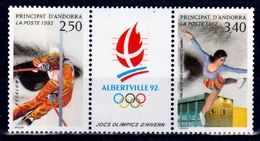 Andorra (French Adm.), 1992 Winter Olympics, Albertville, France , 1992, MNH VF - French Andorra