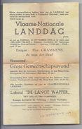 ( VLAANDEREN ) VLAAMS NATIONALE LANDDAG 1953 BILLARD PALACE ANTWERPEN FLOR GRAMMENS DE LANGE WAPPER BRUGGE SOMERS ROELOF - Programmes