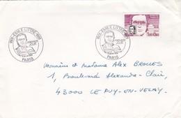 FRANCE- LETTRE  OBLITERATION RONDE PREMIER JOUR EMILE LITTRE 14.1.1984 PARIS   /3 - France