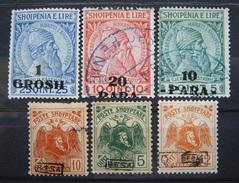 Albanien Markenlot 1914 - 1922 * Mi.Nr.44,43,42,78III,77III,82Q Ungebraucht (B150) - Albania