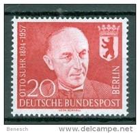 BERLIN - Mi-Nr. 181- Todestag Prof. Dr. Suhr Postfrisch - Ungebraucht