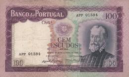 PORTUGAL BANKNOTE -  100 ESCUDOS - 1961 PEDRO NUNES - Portugal