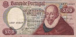 PORTUGAL BANKNOTE -  500 ESCUDOS - 1979  FRANCISCO SANCHES - Portugal