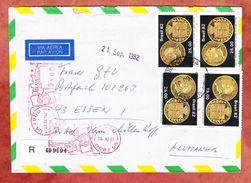 Luftpost, Einschreiben Reco, MiF Muenze + Freistempel, Brasilia Nach Essen 1982 (38899) - Storia Postale