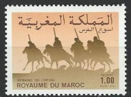 "Maroc YT 1012 "" Semaine Du Cheval "" 1986 Neuf** - Marruecos (1956-...)"