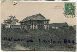 - Viet-nam -  Tonkin - Indochine - Habitation  D'un Colon, écrite, 1907, BE, Scans... - Viêt-Nam